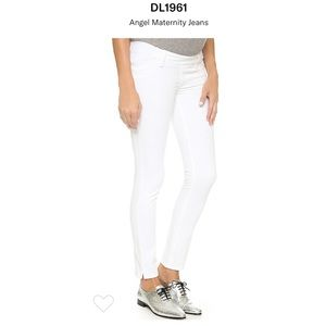 960db4a5c5338 DL1961 maternity Angel White Skinny Ankle Jeans